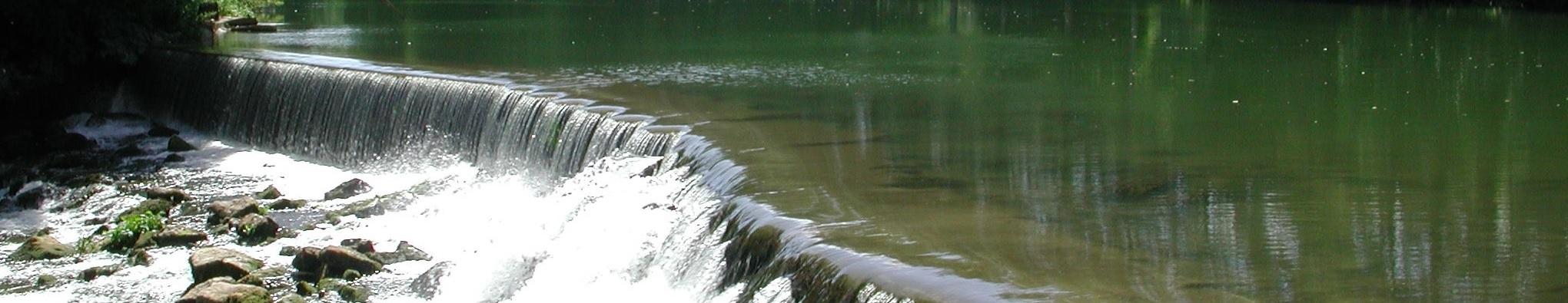 Un des barrage du Clain au niveau de la Pierrière